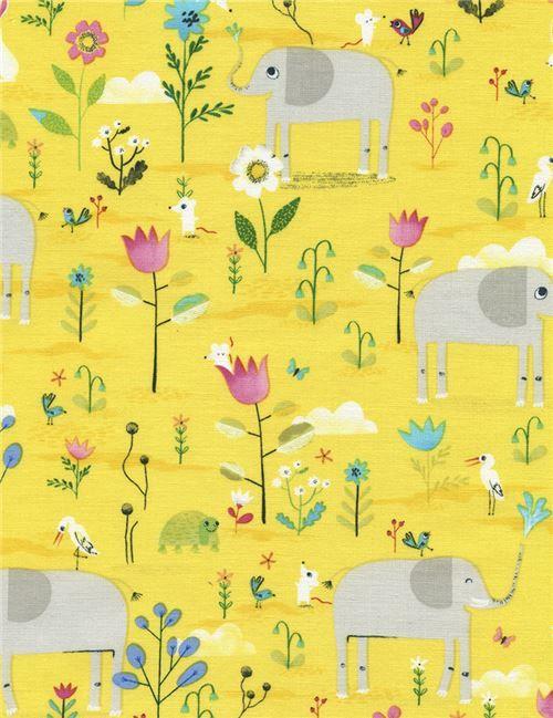 Gelber Stoff aus den USA mit Tieren, Kollektion: Novelty Juvenile