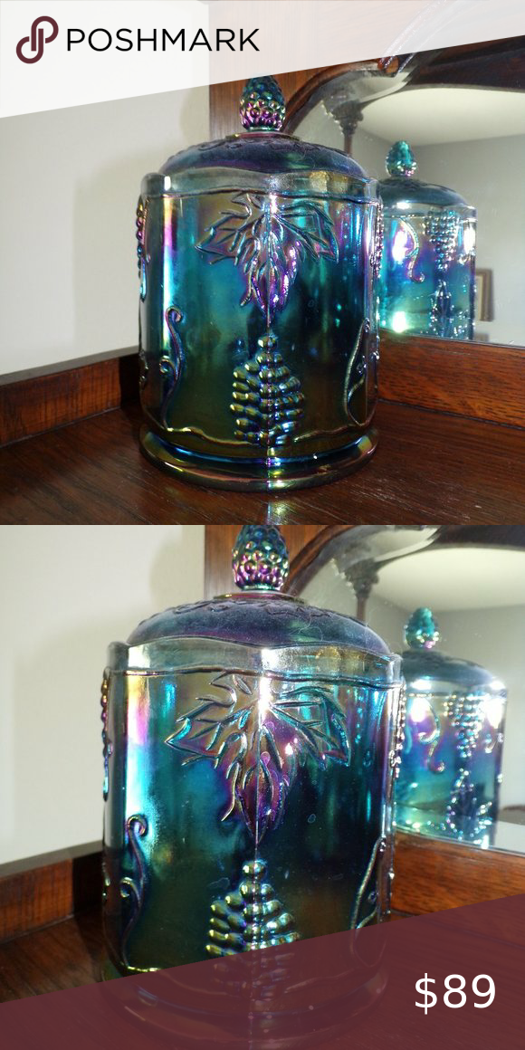 Blue Carnival Cookie / Candy Jar