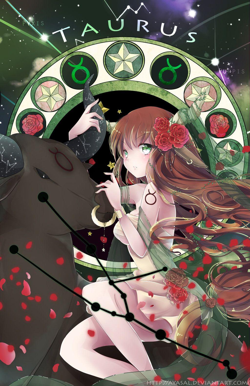 Taurus And Her Bull Anime Zodiac Anime Art Anime