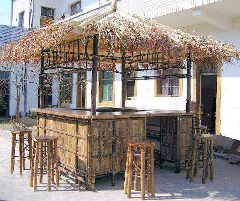 Awesome TIki Bar! I Need This On My Deck!