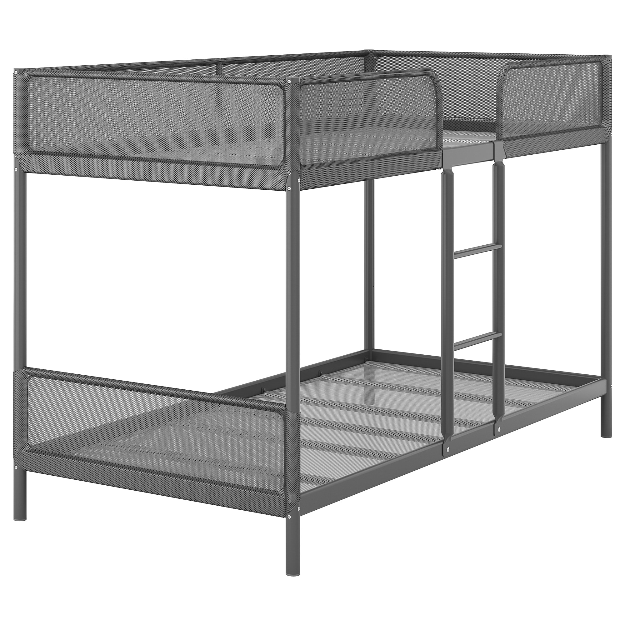 IKEA TUFFING Bunk bed frame dark gray Bunk beds, Bed