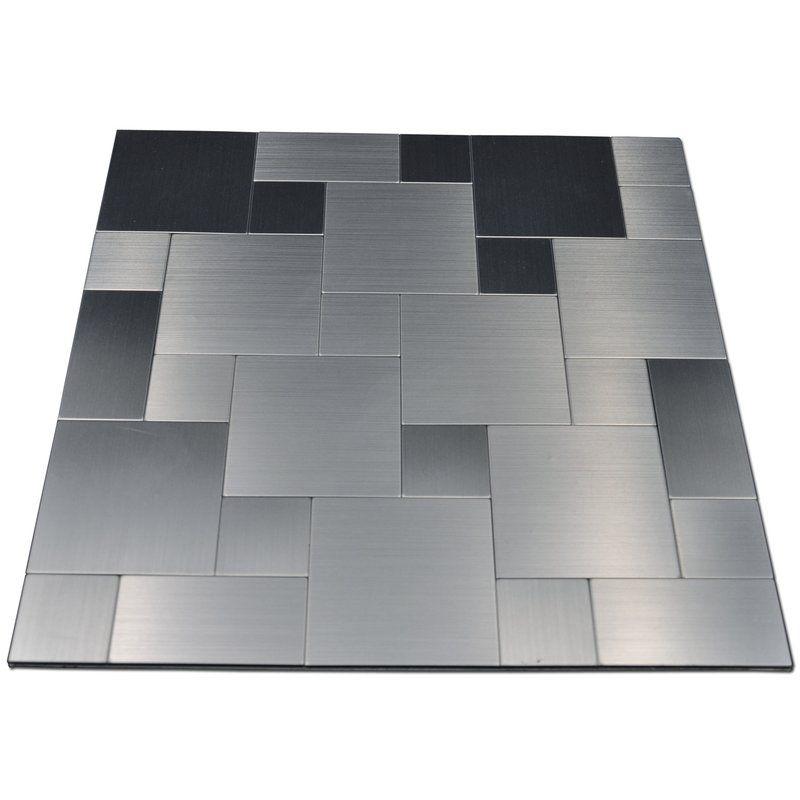 Seashell 12 X 12 Metal Peel Stick Mosaic Tile Metallic Backsplash Metal Tile Backsplash Backsplash