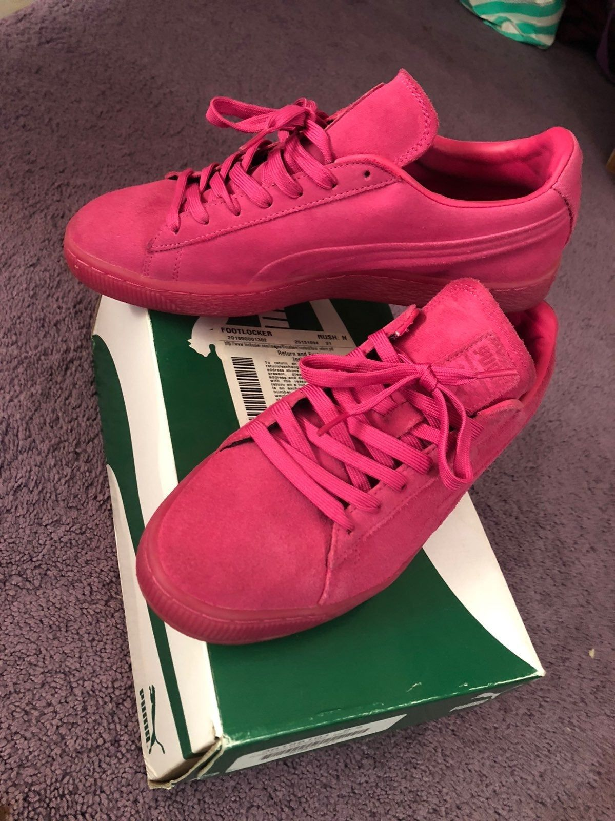 Pink Puma Suede Emboss Iced Fluo. Used