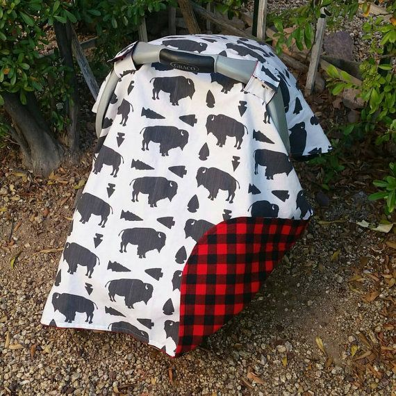 Baby Car Seat Canopy Baby Car Seat Cover Boy Buffalo Car & Baby Car Seat Canopy Baby Car Seat Cover Boy Buffalo Car ...