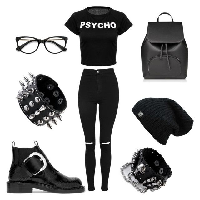 """""""Untitled #796"""" by aornelas1818 on Polyvore featuring Topshop and Maison Margiela"""