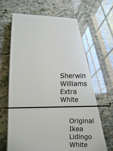 ikea lidigno white cabinet paint color match - Sherwin Williams Color Matching
