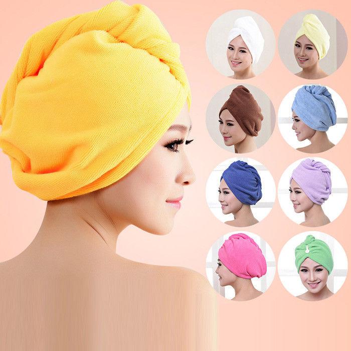 Bathing Turban Towel Hair Magic Microfiber Cap Hat  Dry Wrap Quick Drying Shower