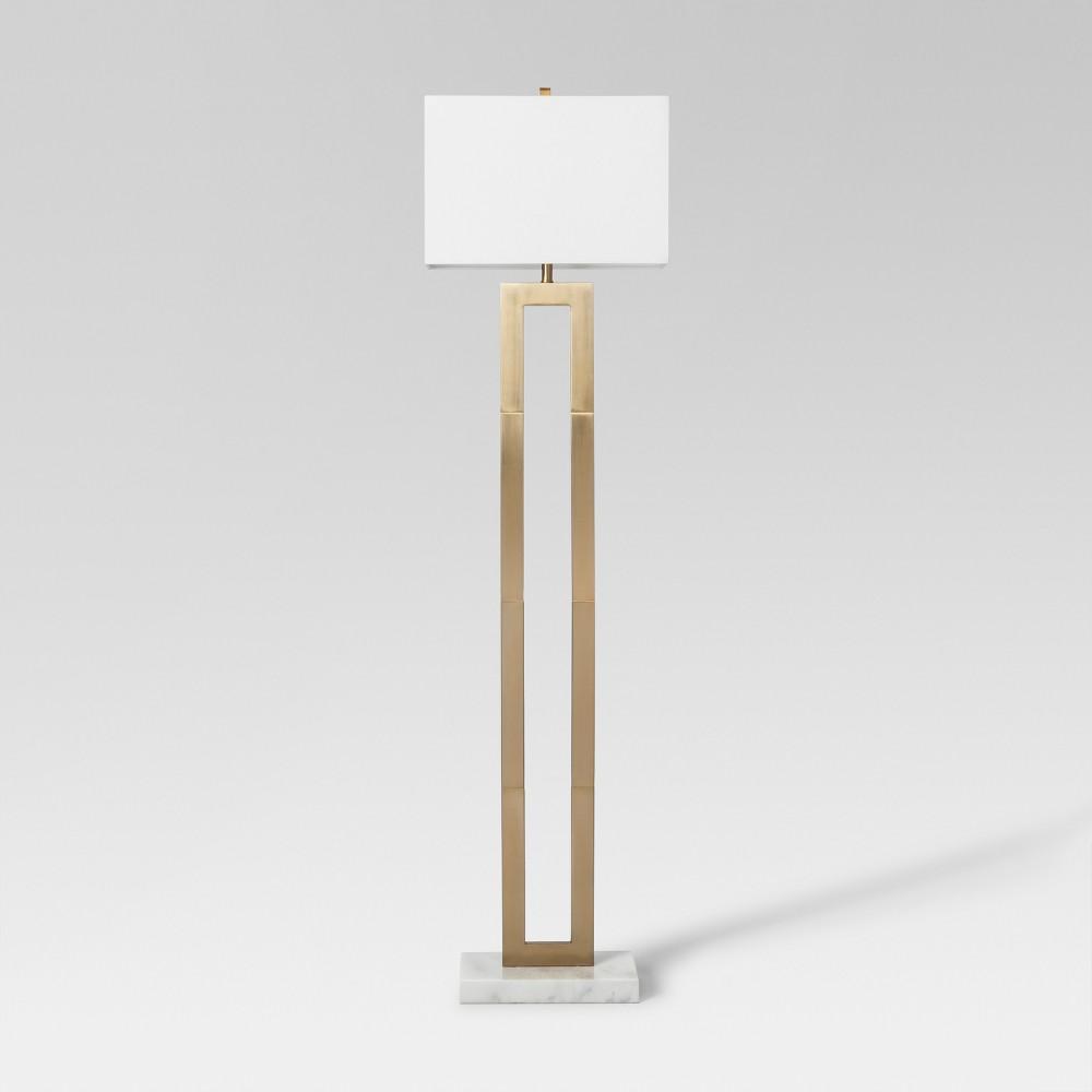 Weston Window Pane Floor Lamp Brass Project 62 In 2020 Tall Floor Lamps Gold Floor Lamp Brass Floor Lamp