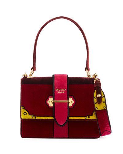 e35f9edf118a V3NJS Prada Trompe L'oeil Velvet Cahier Buckle Bag   Purses / Bag ...