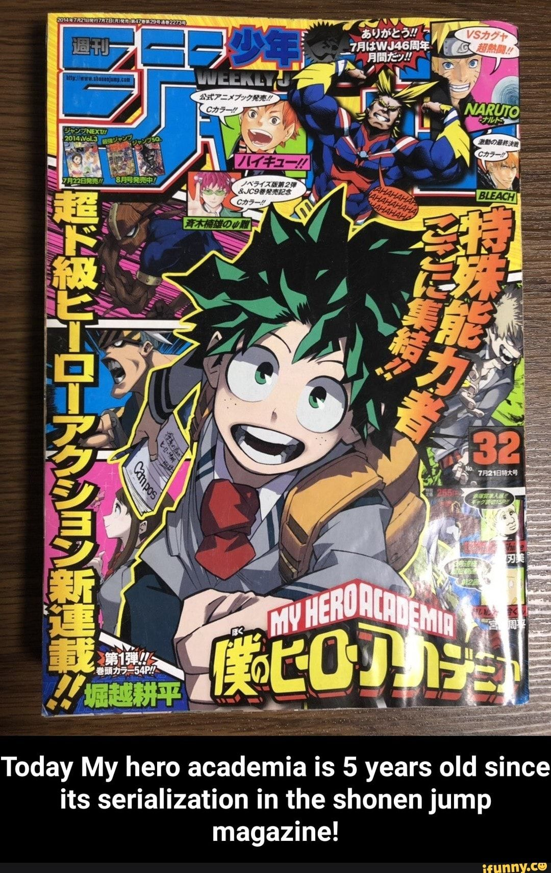 Today My Hero Academia Is 5 Years Old Since Its Serialization In The Shonen Jump Magazine Today My Hero Academia Is 5 Years Old Since Its Serialization In Th
