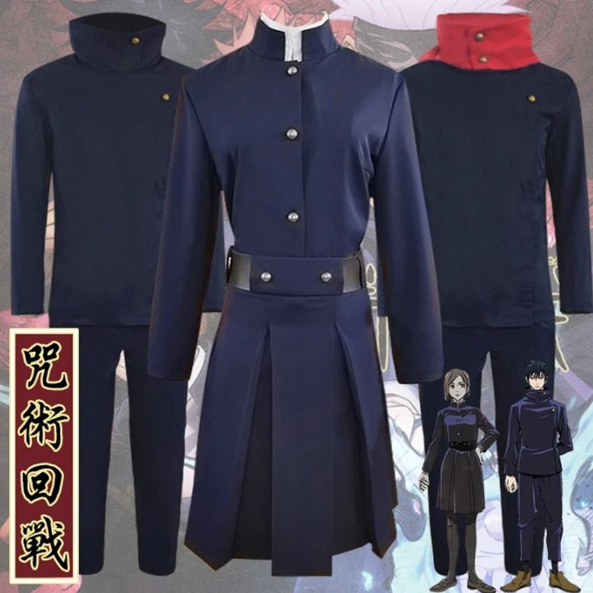 Jujutsu Kaisen Sorcery Fight Kugisaki Nobara Megumi Fushiguro Yuji Itadori Costume Takerlama Cosplay Costumes Costumes Jujutsu