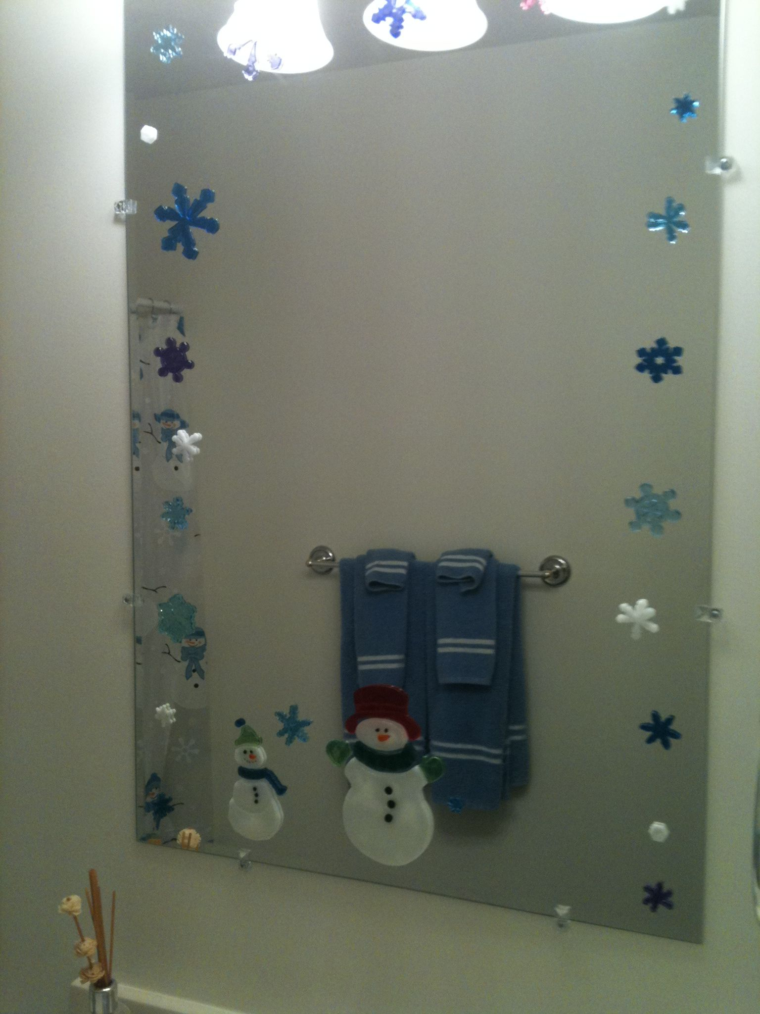 Bathroom Mirrors At Target i use gel window clings on my mirrors. you can get them from the