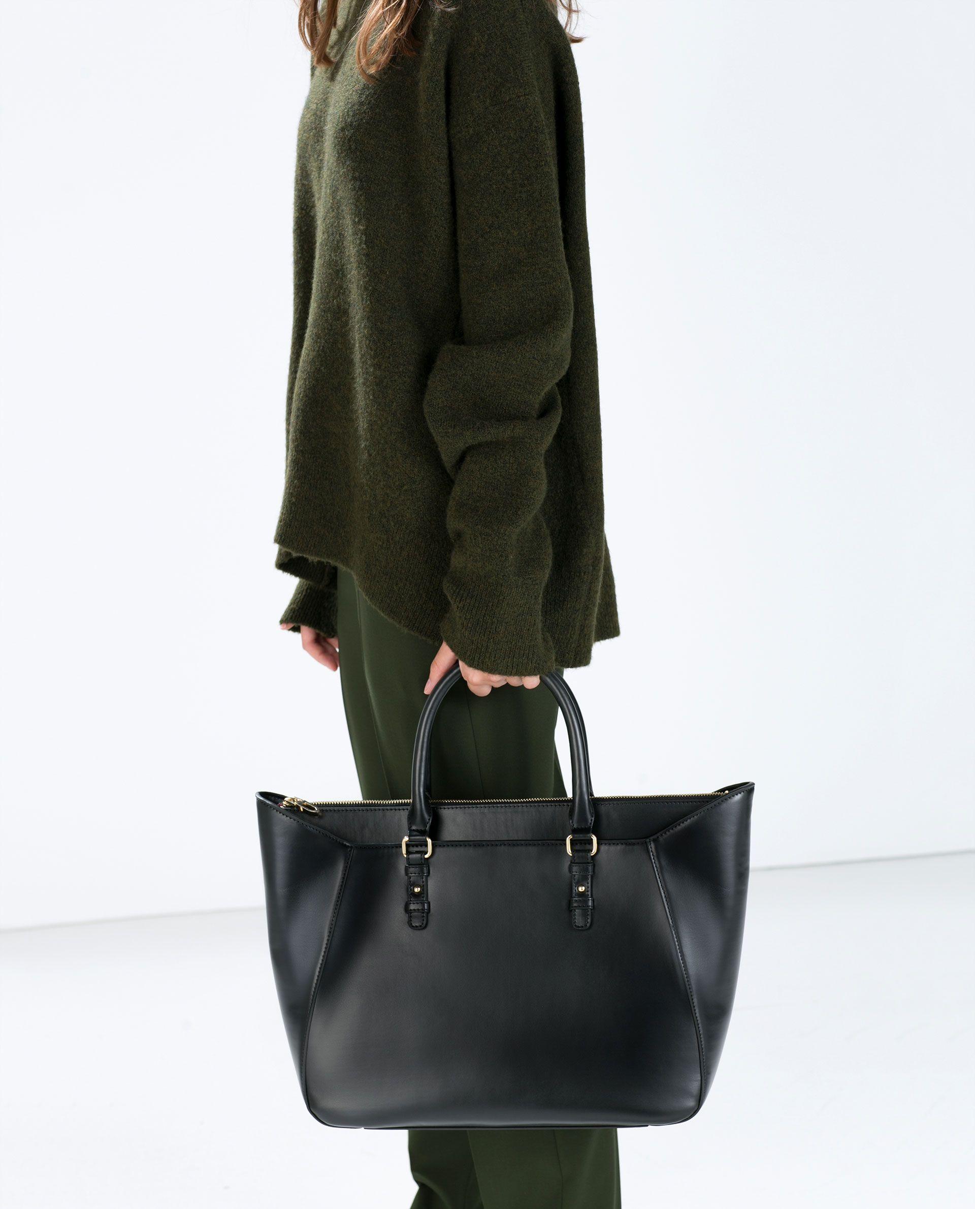 Torba Shopper Z Dwoma Uchwytami Torebki Kobieta Kolekcja Ss15 Zara Polska Zara Shopper Bag Bags