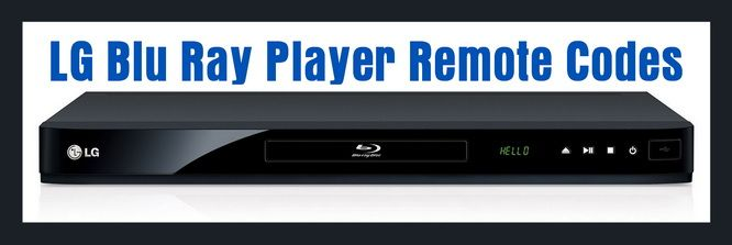 LG Blu Ray Player Remote Control Codes Blu ray player
