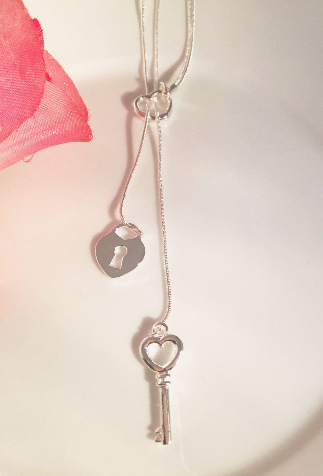 Heart and Lock Necklace