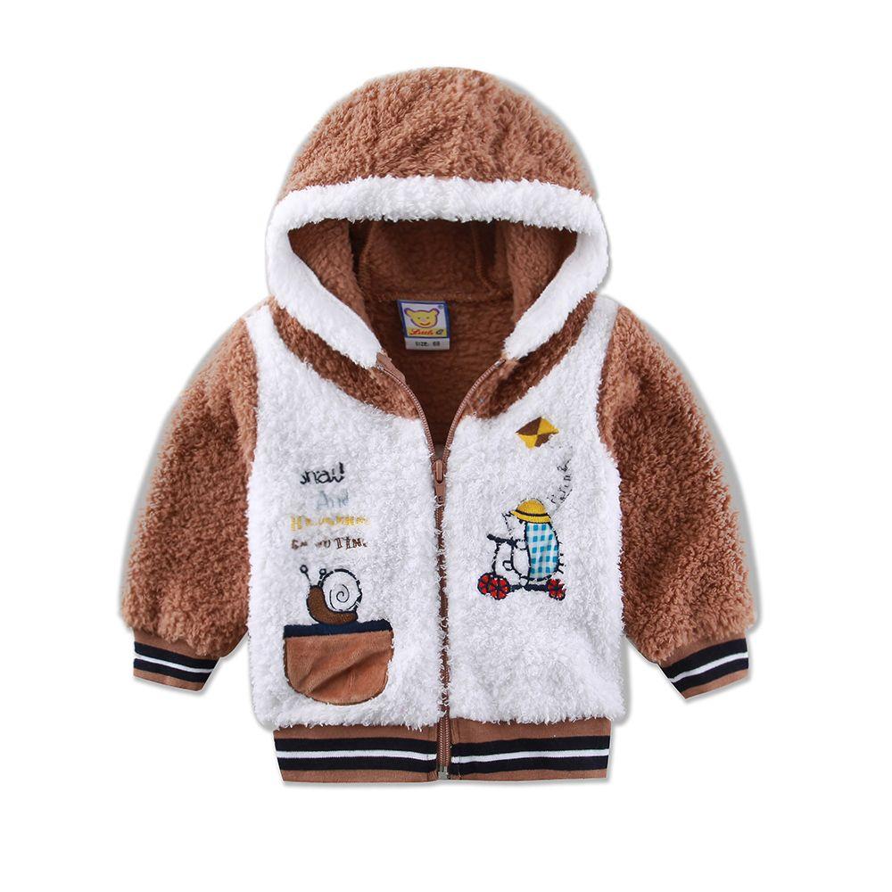 addfb788243d Wholesale Baby Jacket Coral Fleece Boys Clothes Long Sleeve Warm ...