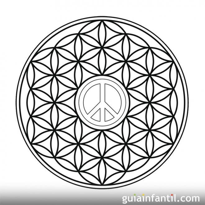 Dibujo del smbolo de la paz en formas geomtricas  10 Mandalas