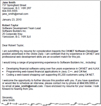 sample cover letters cover letter examples contemporary ...