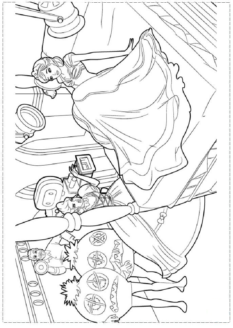 Barbie Fashion Coloring page | Coloring pages and Printables | Pinterest