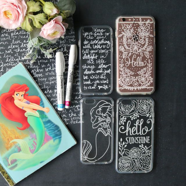 Diy Hand Lettering On Cell Phone Cases Diy Phone Case