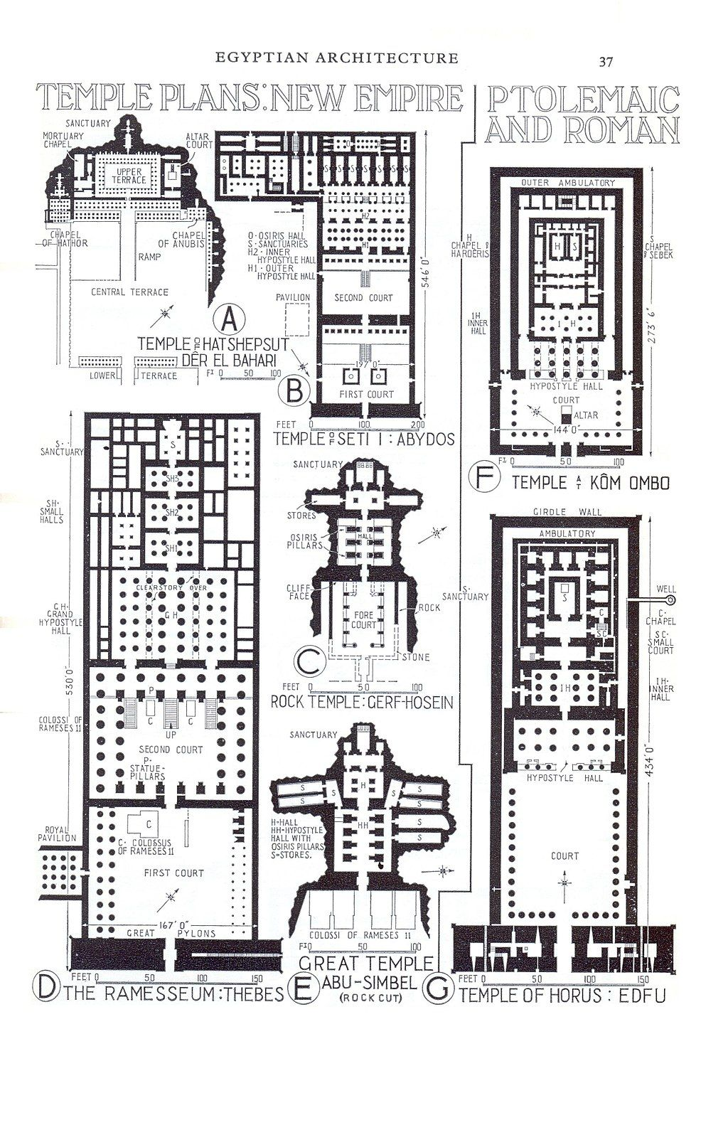 Https Upload Wikimedia Org Wikipedia Commons Thumb 4 42 Temple Plans New Empire Ptolemaic And Roman 37 Jpg 1024px Temple Plans New Empire Arquitectura