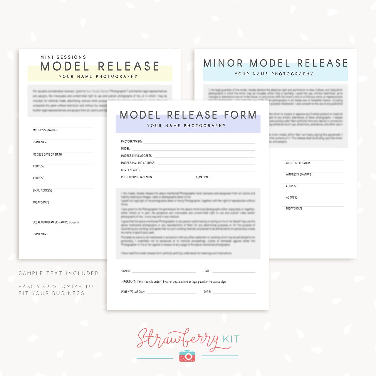 Model Release Form Template Photographers  Photography