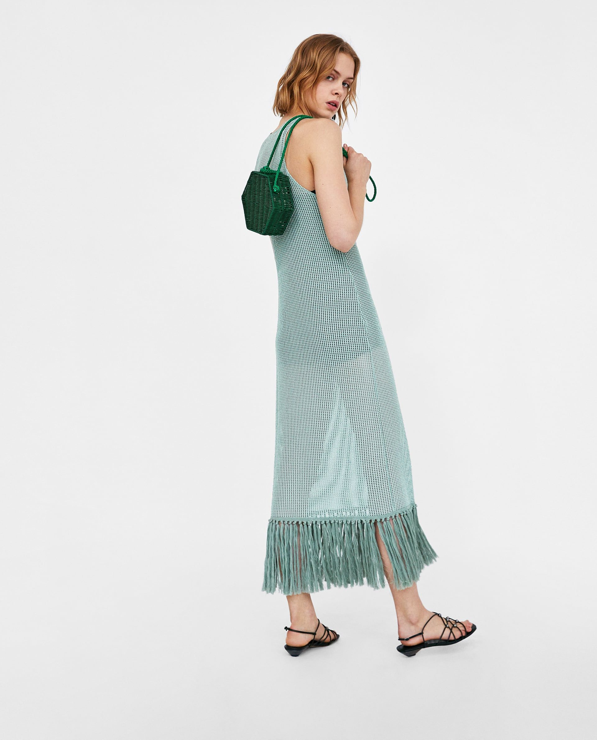 b7c6b96f Image 5 of MESH DRESS WITH FRINGING from Zara | Want