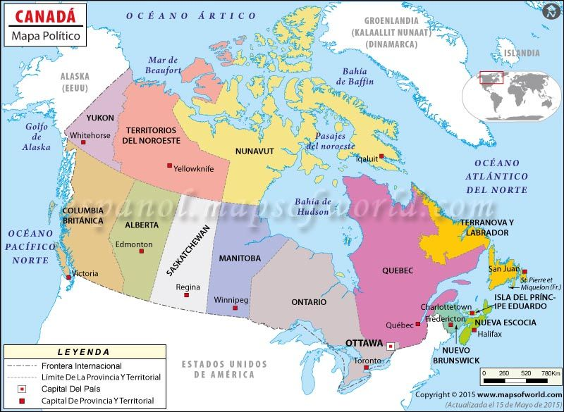 canada mapa Mapa de Canada , Mapa Politico de Canada | Mapa de Países  canada mapa