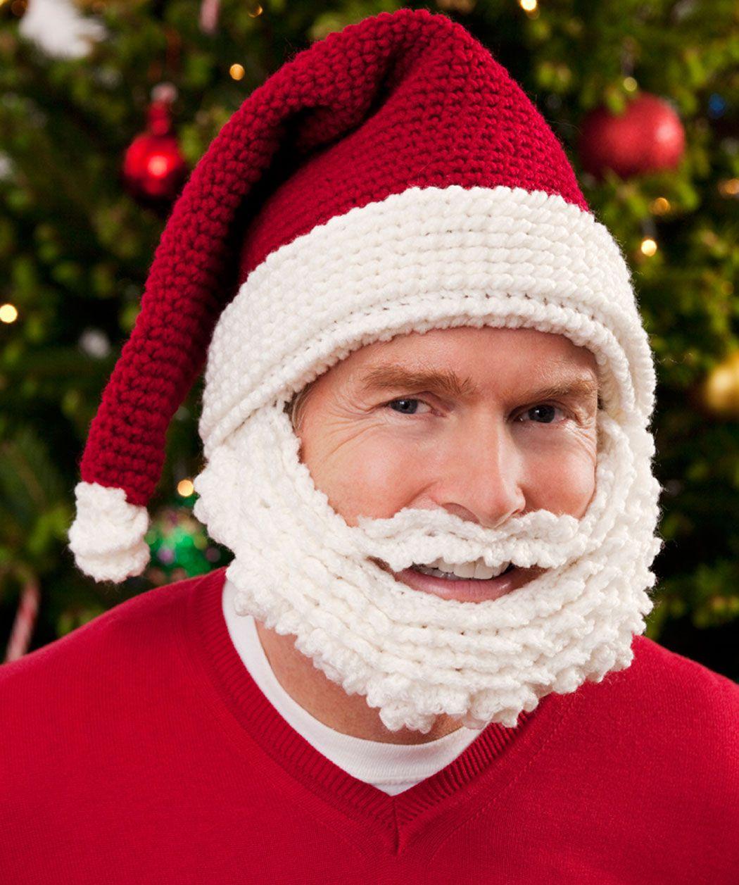 Santa Hat and Beard Crochet Pattern | Crochet Christmas | Pinterest ...
