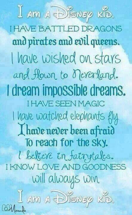 I'm a Disney kid!