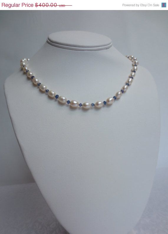 ON SALE 14kt White Gold Oval Pearl and by RLGemstoneElegance