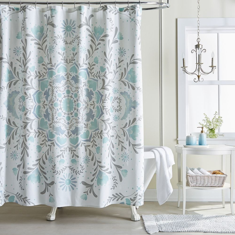 Pin By Tab Dubois On Bathroom In 2020 Medallion Shower Curtain Gray Shower Curtains Unique Shower Curtain