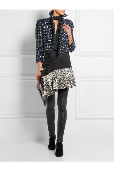 Haider Ackermann | Stretch-wool and leopard-print silk-blend wrap mini skirt | NET-A-PORTER.COM