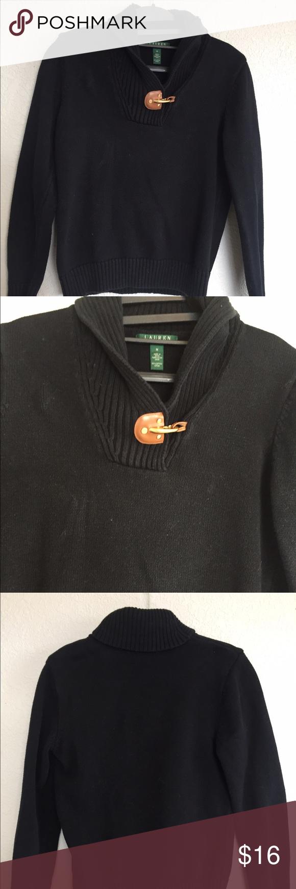 Ralph lauren medium black sweater Nice and soft. Armpit to armpit ...