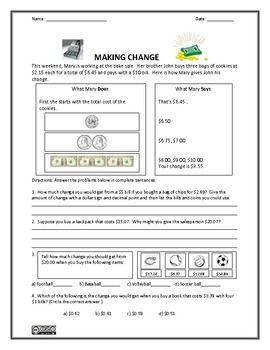 money worksheets money sense and making change math mania money worksheets worksheets. Black Bedroom Furniture Sets. Home Design Ideas