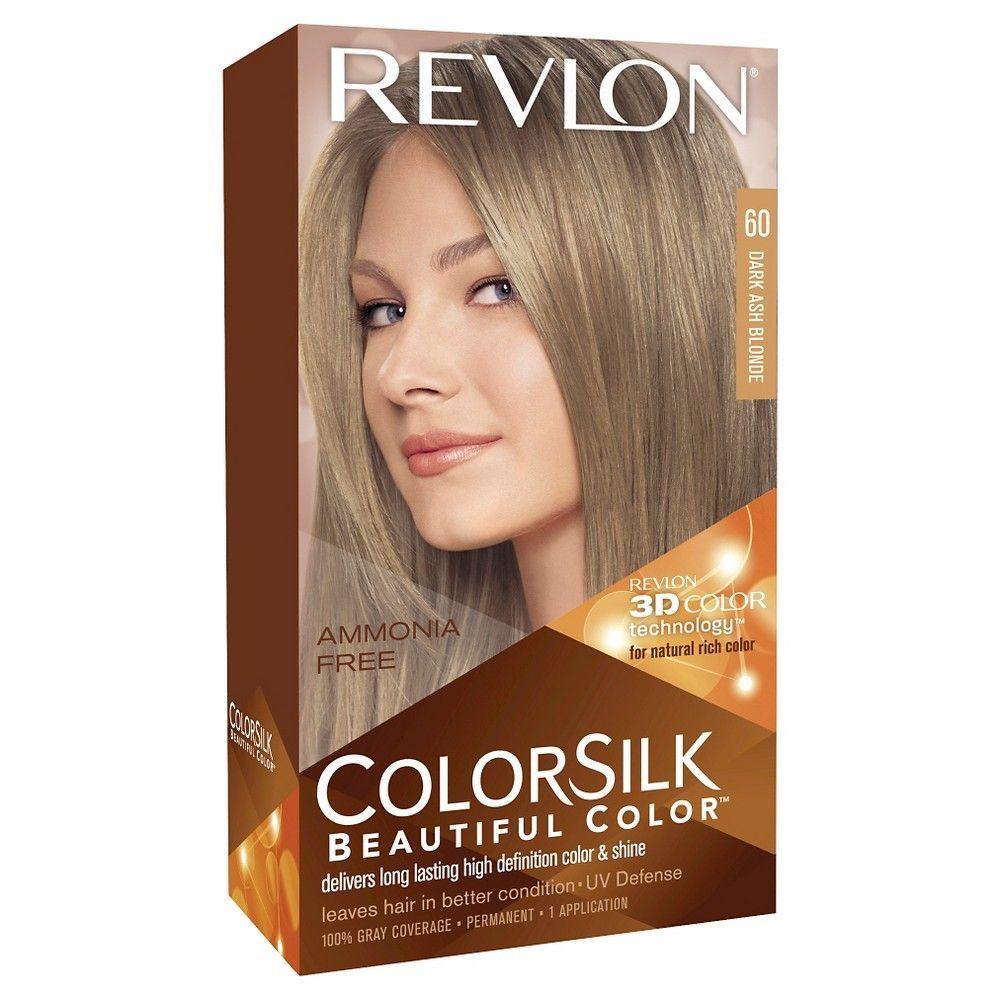 Revlon Colorsilk Beautiful Permanent Hair Color 4 4 Fl Oz Black 1 Kit Revlon Hair Color Dark Ash Blonde Dyed Blonde Hair