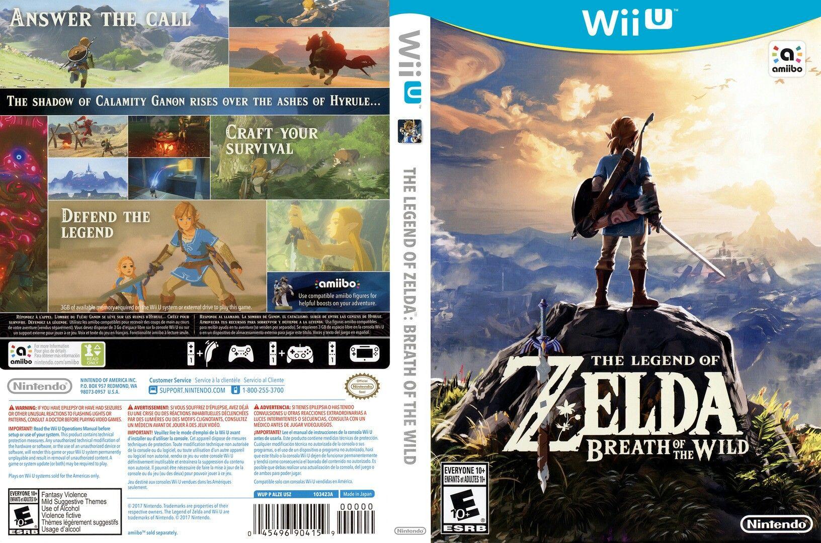 The Legend Of Zelda Breath Of The Wild Nintendo Playstation Y