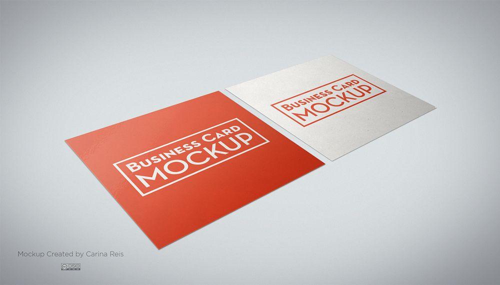 Free Square Business Card Mockup PSD   Free Business Card Mockup ...