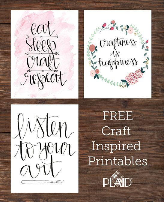 Three Awesome Free Wall Decor Printables Craft Inspirations For Your Room Dorm Or Anything Else Put Them In A Custom Diy Painted