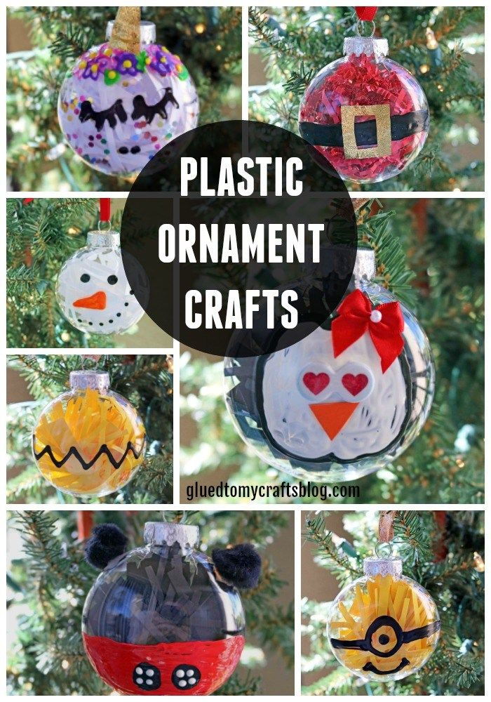 10 Fabulous And Super Easy Plastic Ornament Crafts Christmas