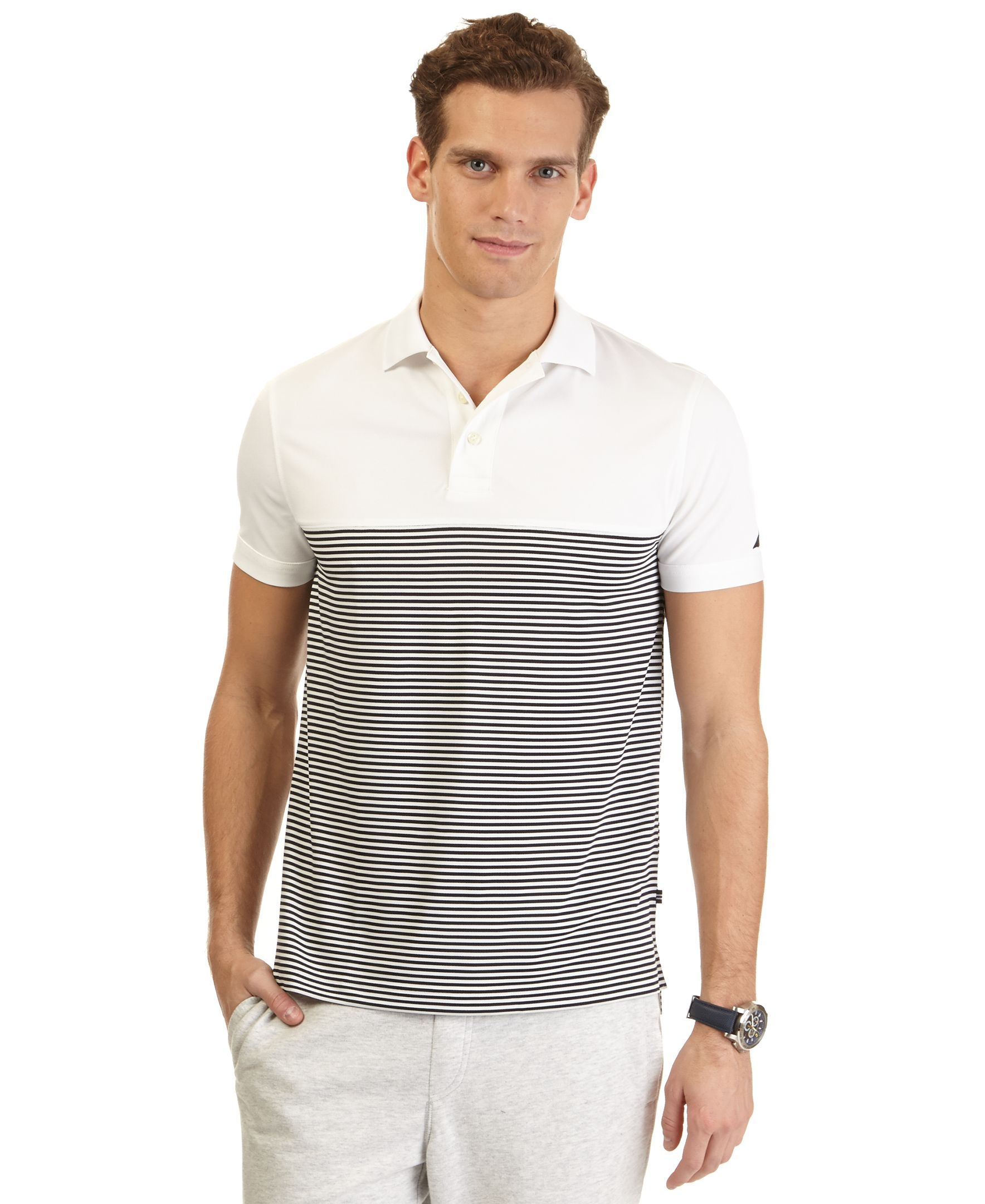 Nautica Striped Polo