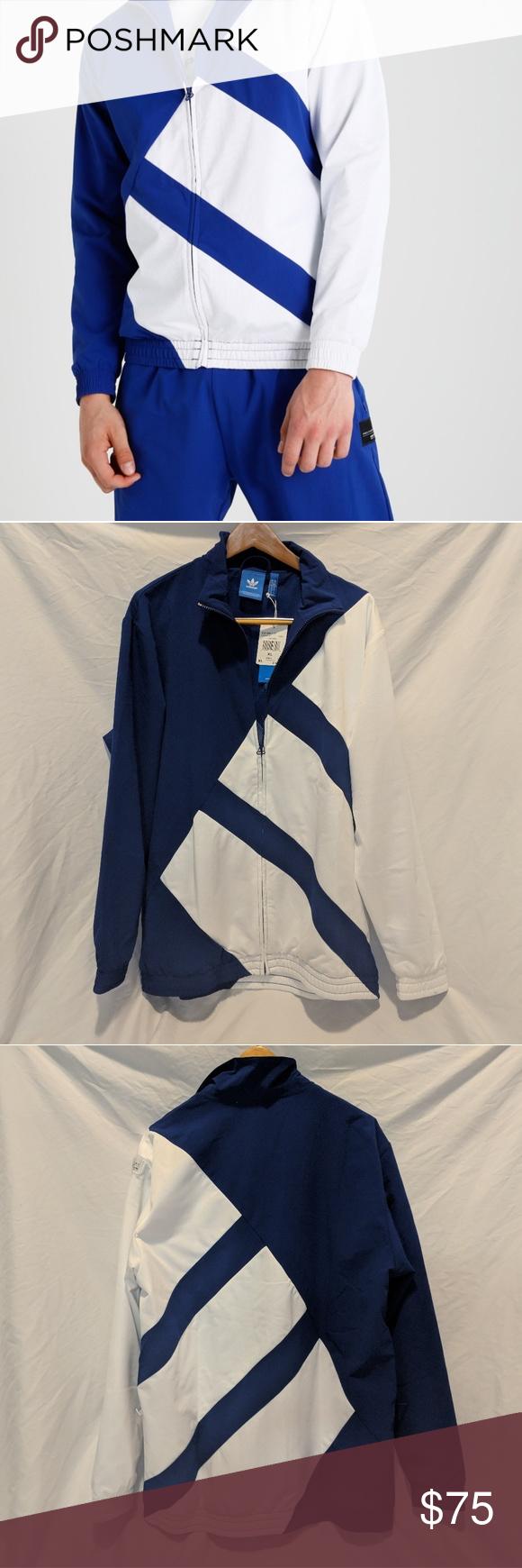 4eb14230e714 Adidas EQT ADV Track Jacket  BRAND NEW   NEVER WORN  Blue White Track Jacket.  Very Nice Quality adidas Jackets   Coats Performance Jackets