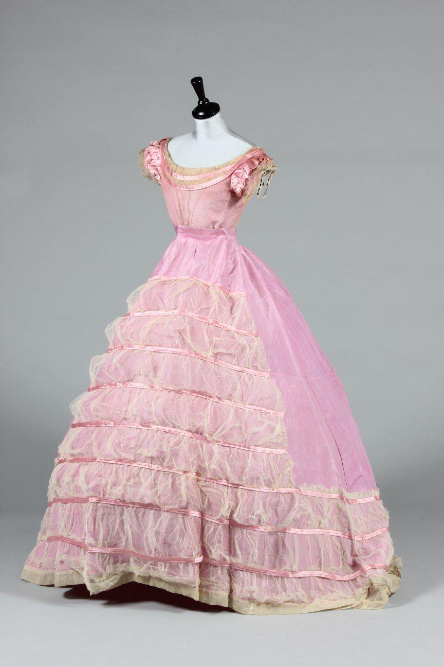 Ball Gown C 1865 Edwardian Dress Victorian Fashion Ball Gowns [ 1296 x 864 Pixel ]