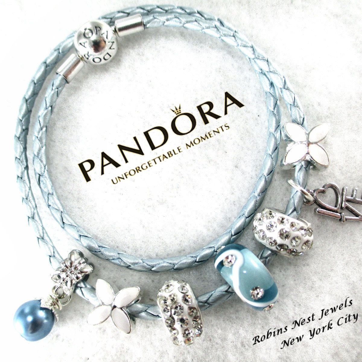 Leather Wrap Bracelet With Charms: Authentic Pandora, Pandora Bracelet, Leather Bracelet