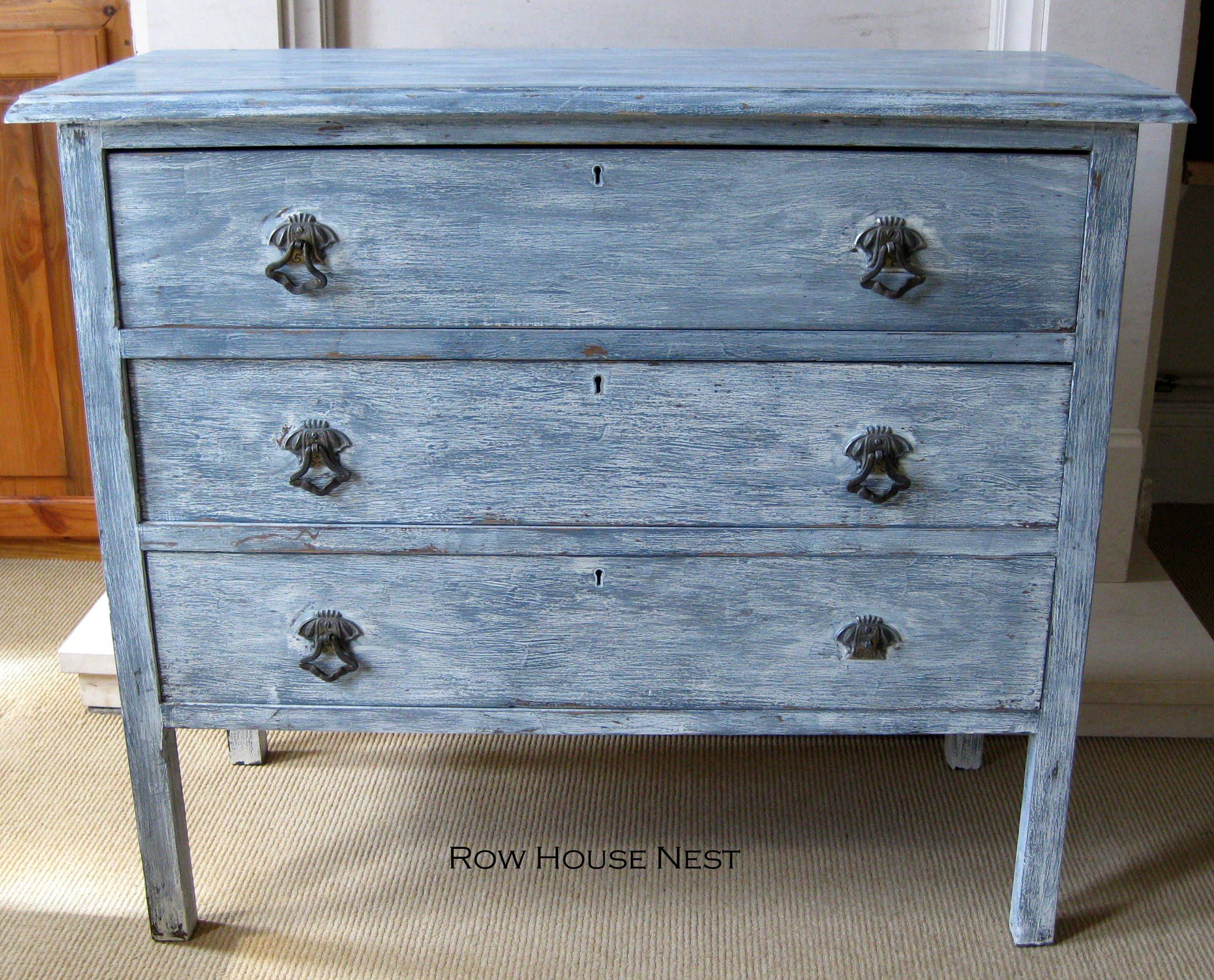 distressed blue furniture. DIY Furniture Distressed Blue