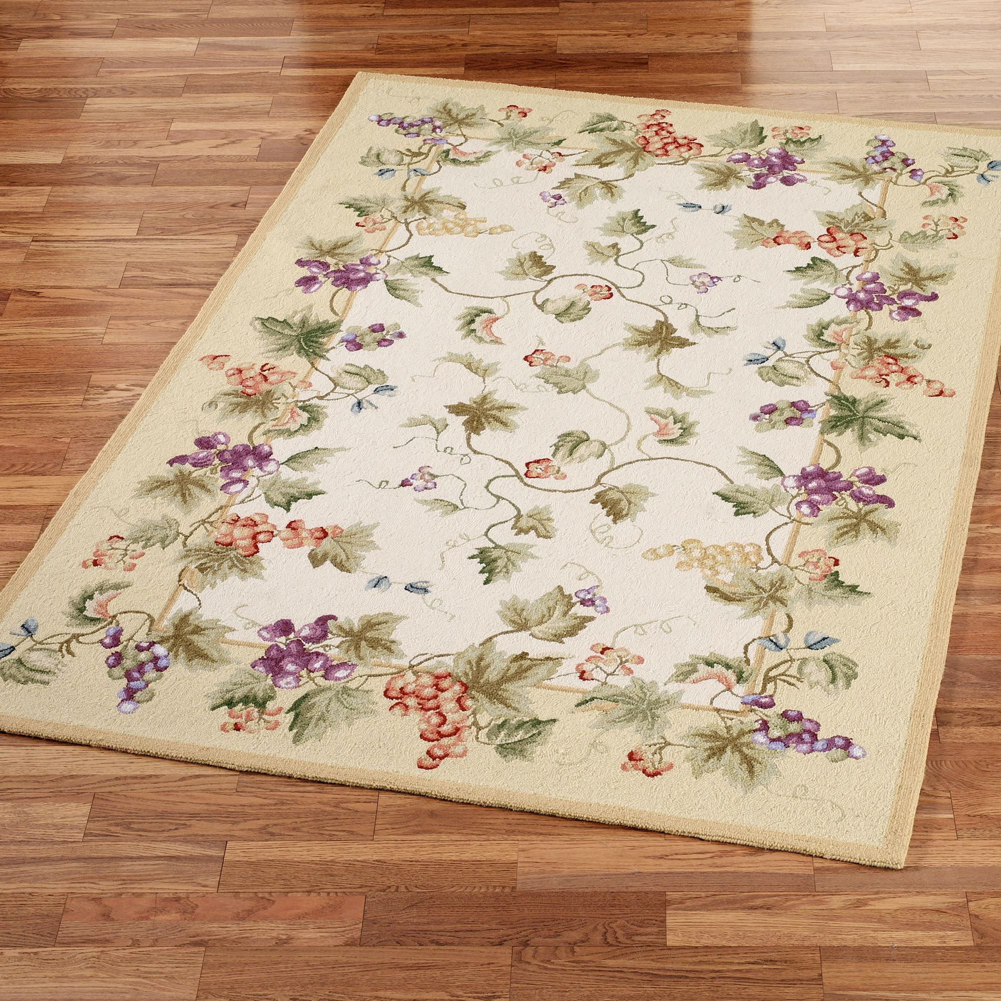 Vining Grapes Wool Area Rugs | Kitchen decor, China and Kitchens