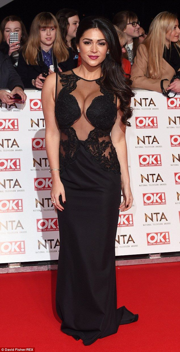 ca3ce1d3e34 Va-va-voom  Former Celebrity Big Brother star Casey Batchelor also opted to  show off her recently reduced cleavage in a sexy sheer gown