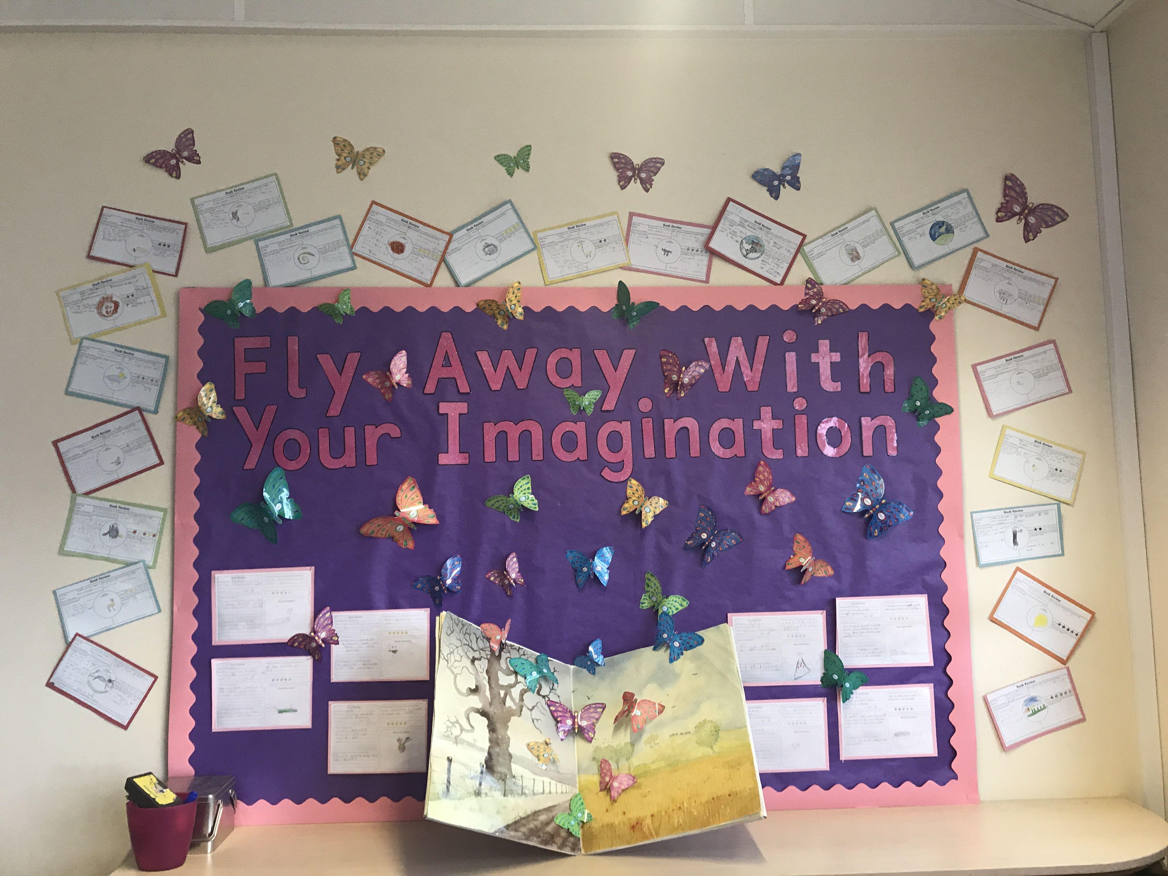 Book Corner Display Ks1 Classroom Year 2 Imagination
