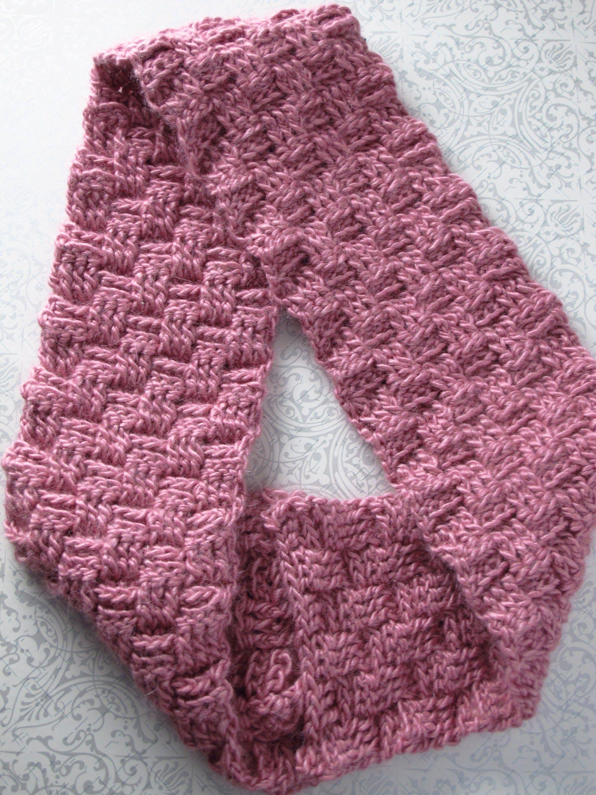DIY Sakura Crocheted Basketweave Möbius Cowl | Crochet Ideas ...