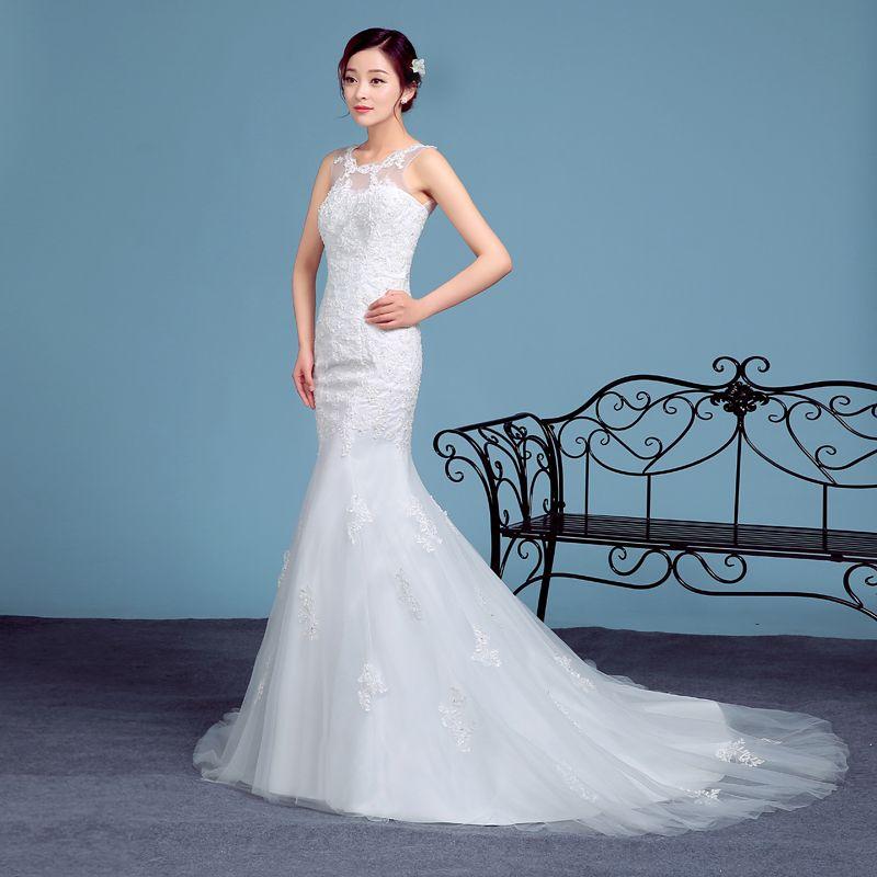 white mermaid dress plus size